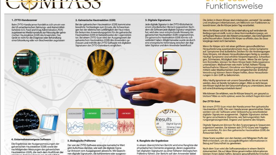 Zyto Compass die Option für Gesundheit und Wohlbefinden